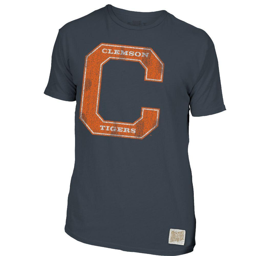 Clemson Retro Brand C Block Slub Tee