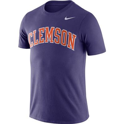 Clemson Nike Dri-Fit Short Sleeve Tee NEW_ORCHID