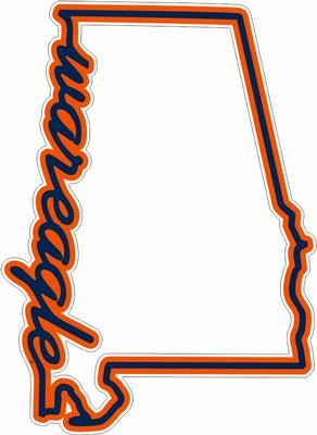 War Eagle State Outline Decal