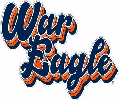 War Eagle Script Decal