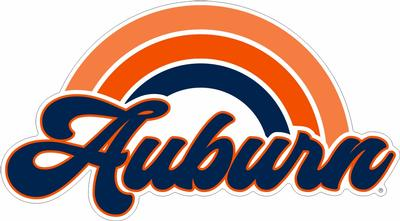 Auburn Rainbow Decal