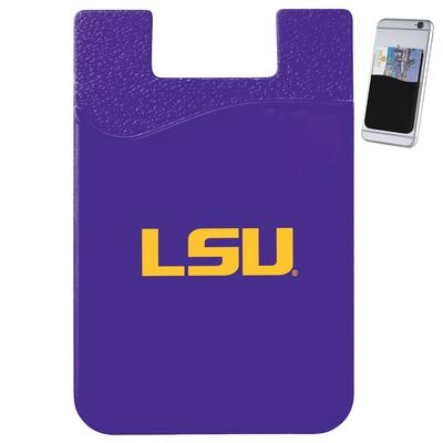 LSU Slim Silicone Phone Wallet