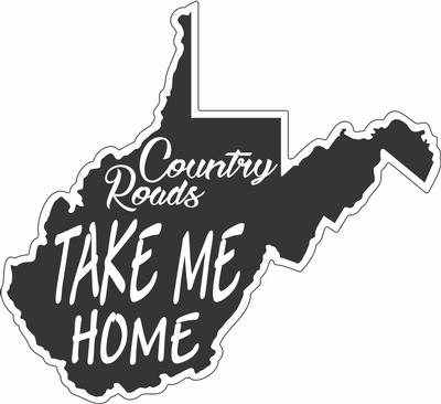 Country Roads State 3' Decal