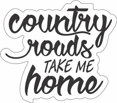 Country Roads Script Magnet