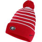 Georgia Bulldogs Nike Striped Beanie