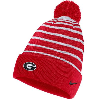 Georgia Bulldogs Nike Striped Beanie