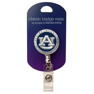 Auburn Heritage Pewter Blue Badge Reel