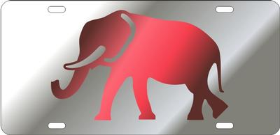 Alabama Elephant Logo License Plate
