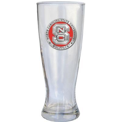 NCST Heritage Pewter Red Pilsner Glass