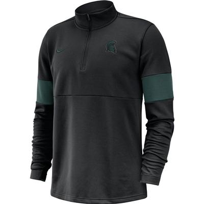 Michigan State Nike Therma-FIT 1/4 Zip Top BLACK/PRO_GREEN