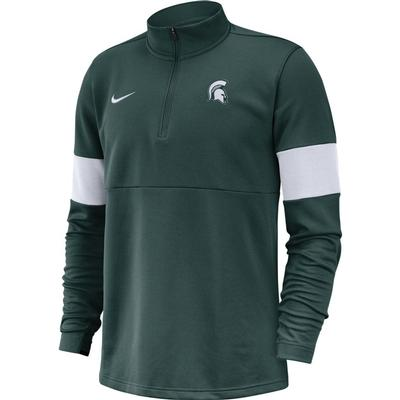 Michigan State Nike Therma-FIT 1/4 Zip Top PRO_GREEN/WHT