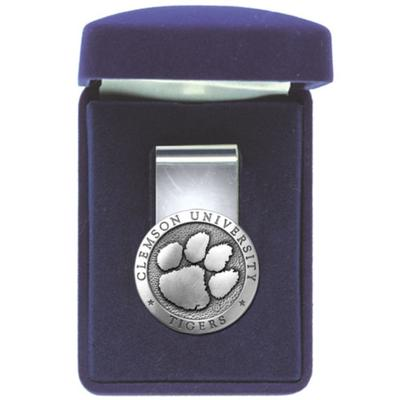 Clemson Heritage Pewter Money Clip