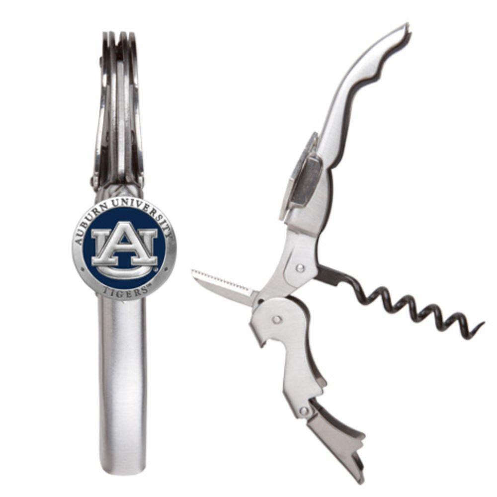 Auburn Heritage Pewter Blue Corkscrew Wine Tool