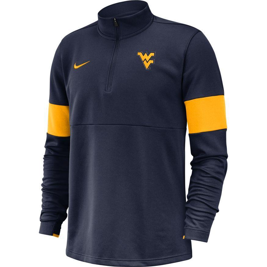 West Virginia Nike Therma- Fit Half Zip Pullover