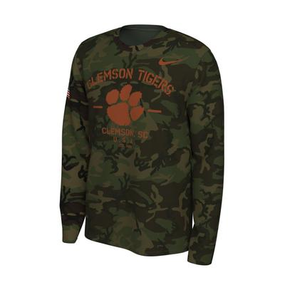 Clemson Nike 2019 Veterans Day Long Sleeve Tee