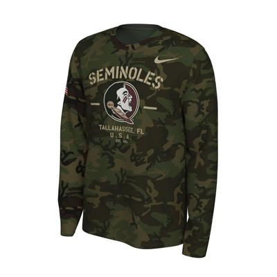 Florida State Nike 2019 Veterans Day Long Sleeve Tee