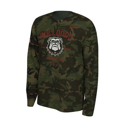 Georgia Nike 2019 Veterans Day Long Sleeve Tee