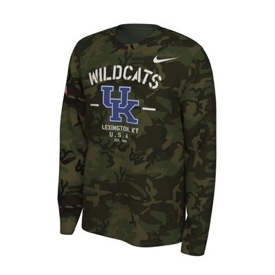 Kentucky Nike 2019 Veterans Day Long Sleeve Tee