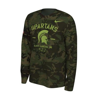 Michigan State Nike 2019 Veterans Day Long Sleeve Tee