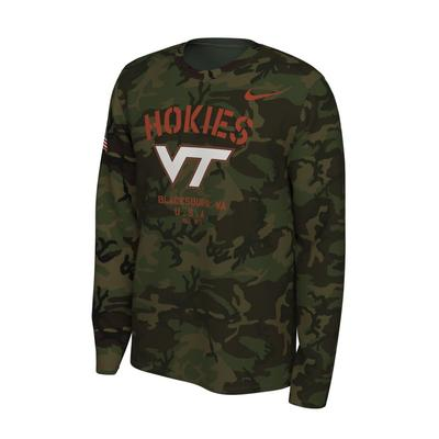Virginia Tech Nike 2019 Veterans Day Long Sleeve Tee