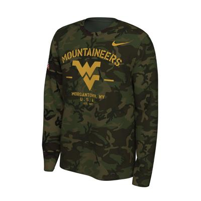 West Virginia Nike 2019 Veterans Day Long Sleeve Tee