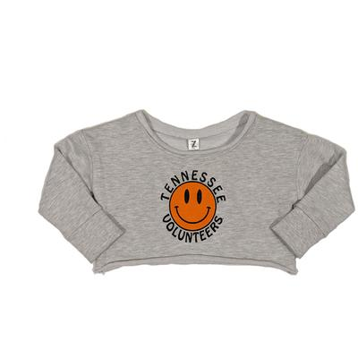 Tennessee Youth Smiley Cropped Sweatshirt