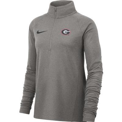 Georgia Nike Women's Half Zip Long Sleeve Top