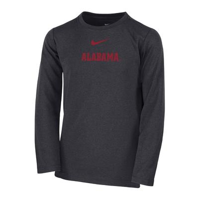 Alabama Kid's Long Sleeve Coach Tee