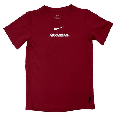 Arkansas Nike Boys Coaches Short Sleeve Tee