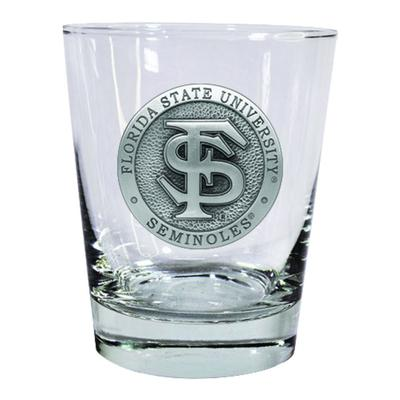 Florida State Heritage Pewter Circular Rocks Glass