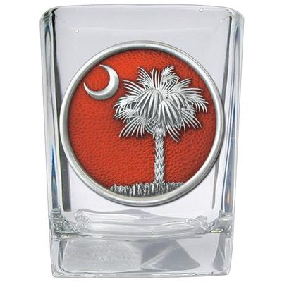 Clemson Heritage Pewter Palmetto Square Shot Glass