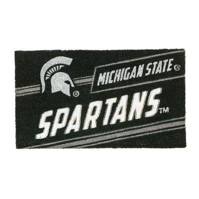 Michigan State Evergreen Coir Punch Mat