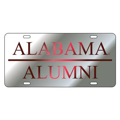 Alabama License Plate Silver/Crimson Alumni