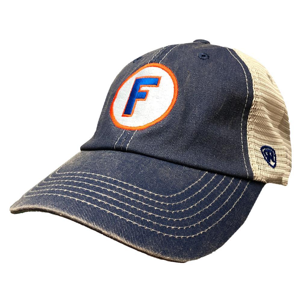 Florida Circle F Vault Logo Dirty Mesh Back Hat