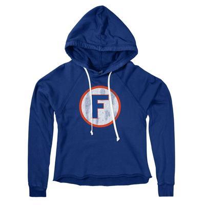 Florida Retro Brand Circle F Cropped Hoodie