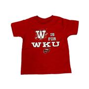 W Is For Wku Toddler Tee Shirt