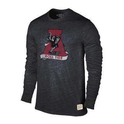 Alabama Retro Brand Streaky Triblend Long Sleeve T-Shirt