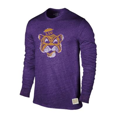 LSU Retro Brand Streaky Triblend Long Sleeve T-Shirt
