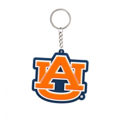 Auburn Evergreen PVC Keychain