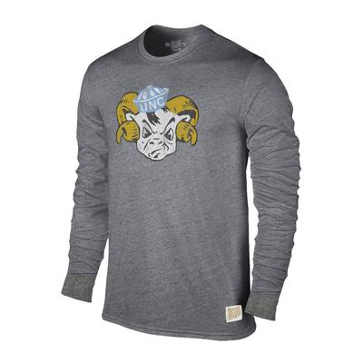 UNC Retro Brand Streaky Triblend Long Sleeve T-Shirt