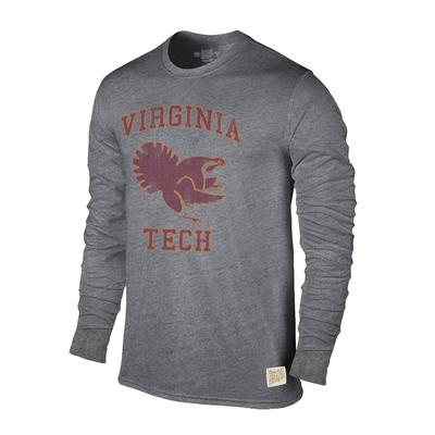 Virginia Tech Retro Brand Streaky Triblend Long Sleeve T-Shirt