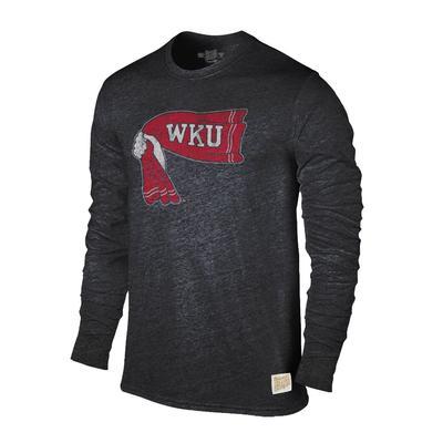Western Kentucky Retro Brand Streaky Triblend Long Sleeve T-Shirt