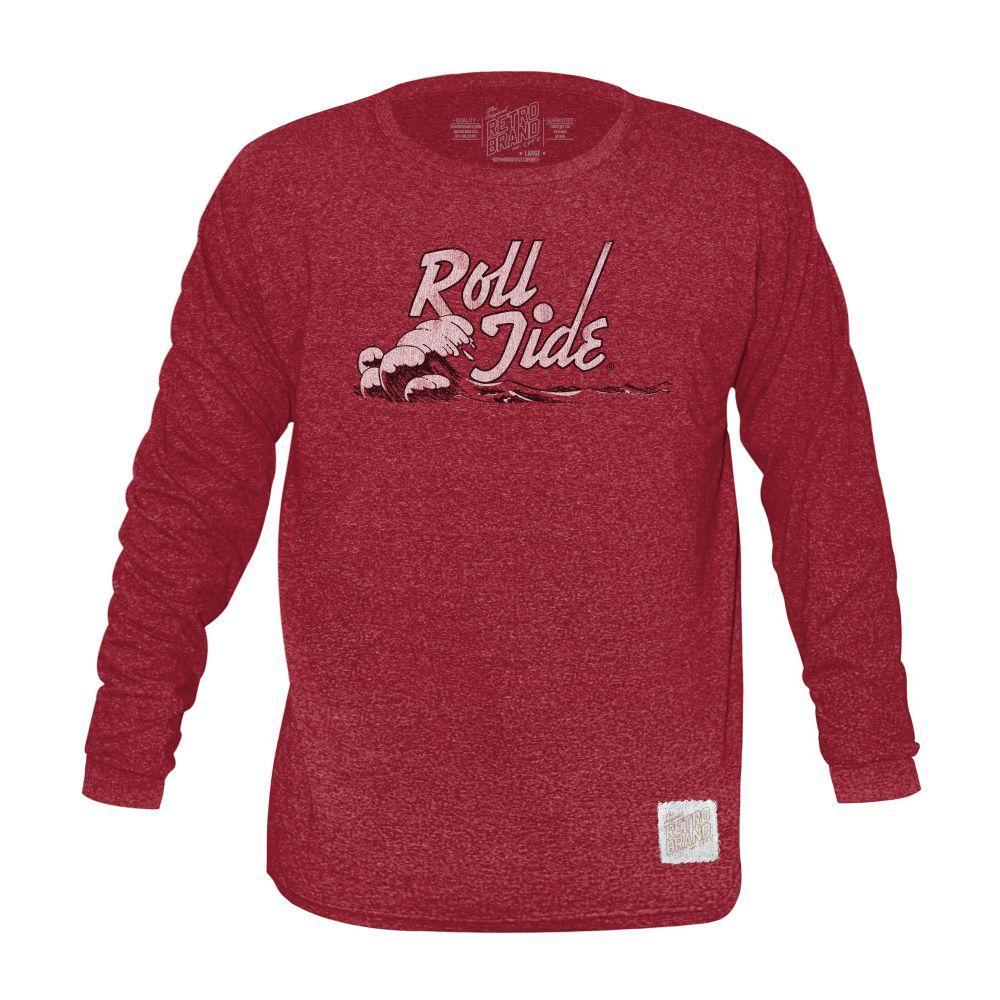Alabama Retro Brand Mock Twist Triblend Long Sleeve T- Shirt