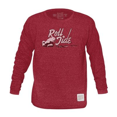 Alabama Retro Brand Mock Twist Triblend Long Sleeve T-Shirt