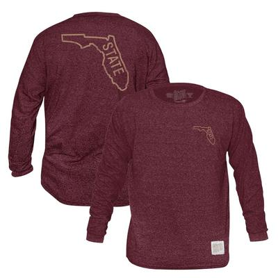 Florida State Retro Brand Mock Twist Triblend Long Sleeve T-Shirt