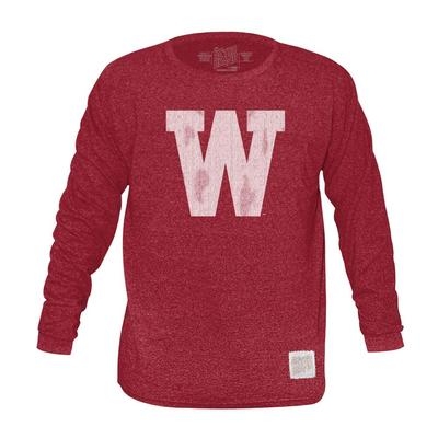 Western Kentucky Retro Brand Mock Twist Triblend Long Sleeve T-Shirt