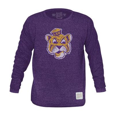 LSU Retro Brand Mock Twist Triblend Long Sleeve T-Shirt