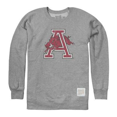 Arkansas Retro Brand Vault Logo Crew Sweatshirt