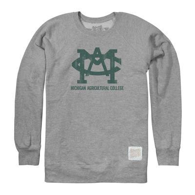 Michigan State Retro Brand Vault Logo Crew Sweatshirt