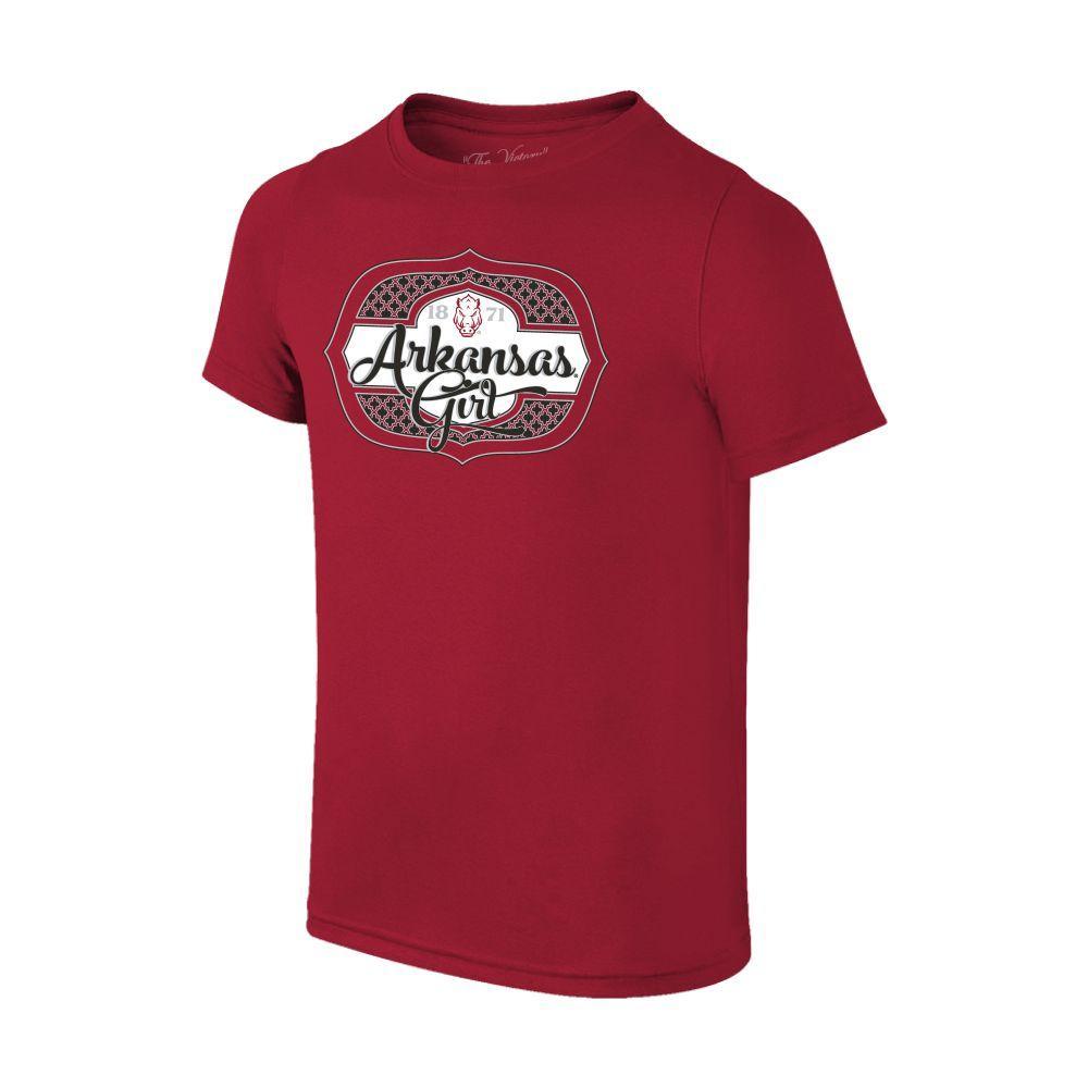 Arkansas Youth Girl Tee Shirt